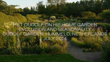 Piet Oudolf on his home garden evolution and seasonality. Oudolf Garden, Hummelo, Netherlands, July 2014.